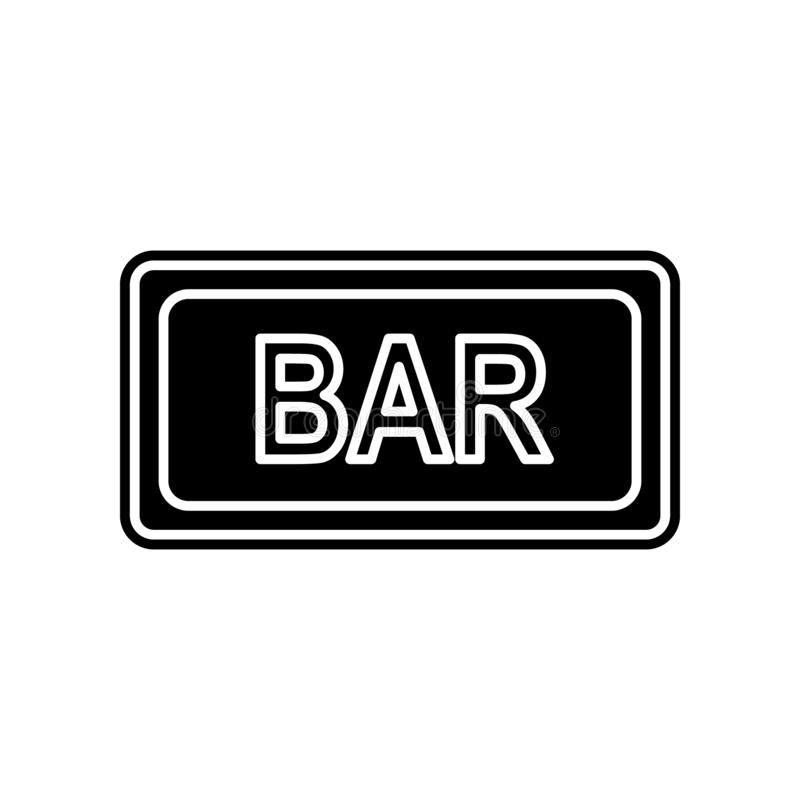 Bar sign icon. Element of Casino for mobile concept and web apps icon. Glyph, flat icon for website design and development, app. Development on white background vector illustration