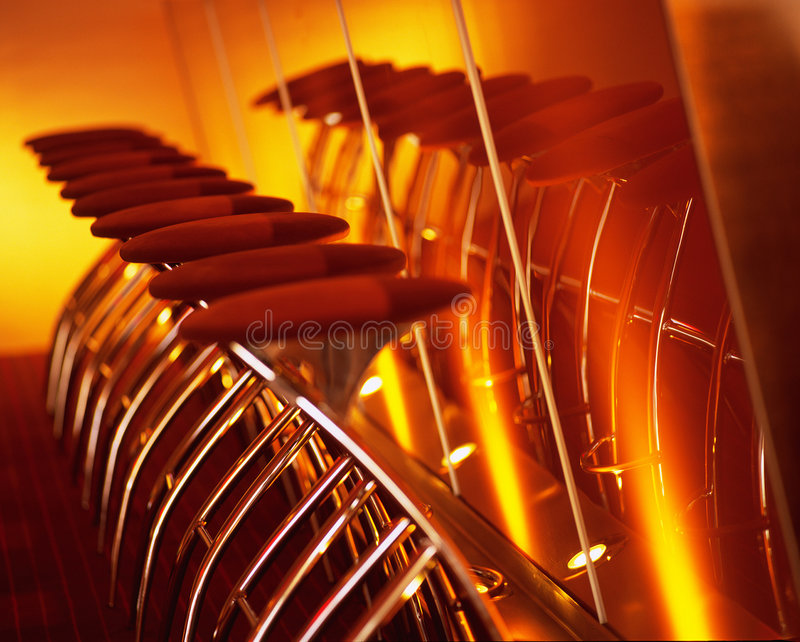 Download Bar Stools stock photo. Image of interior, warm, colour - 116966