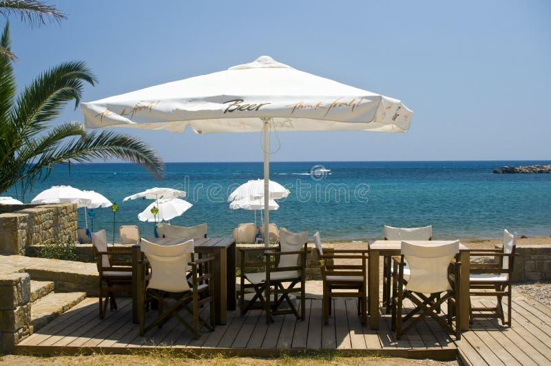 Bar sur la plage images libres de droits