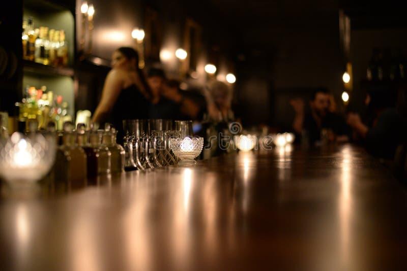 Bar tegenbovenkant stock foto