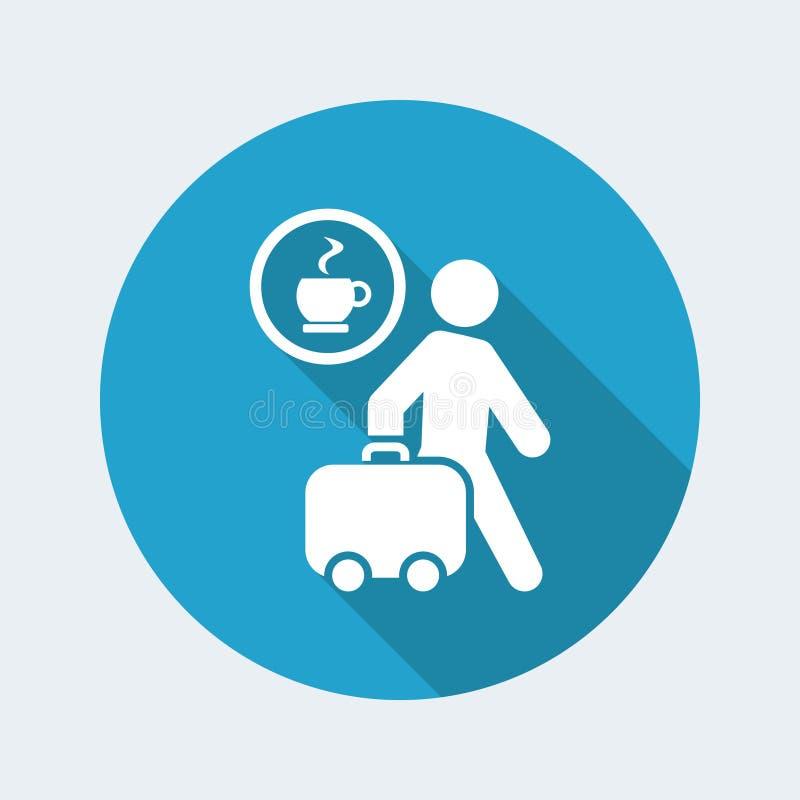 Bar travel icon stock illustration