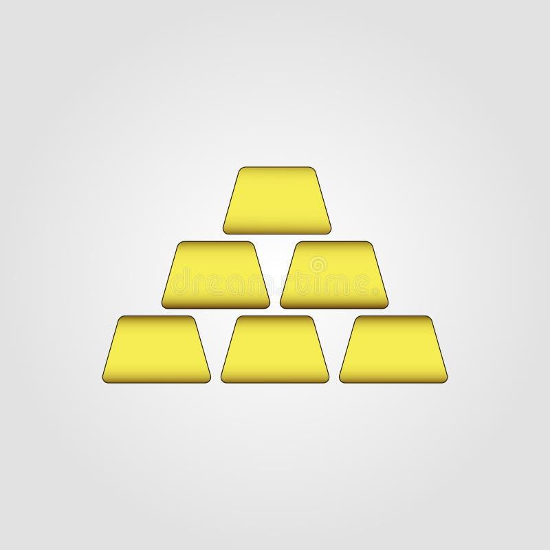 Bar van gouden pictogram vector illustratie