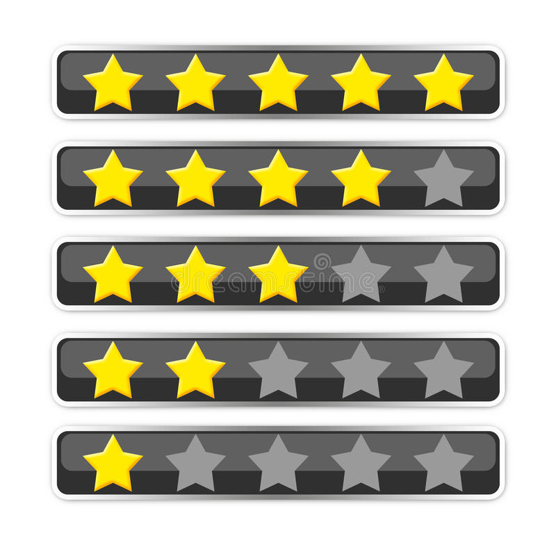 Bar with voting/rating stars