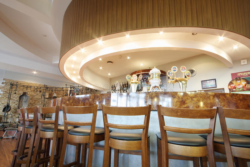 Bar w smacznym pokoju i muzeum w Ochakovo fabryce zdjęcia royalty free