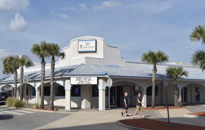 Bar y grill de la taberna, playa de Jacksonville, la Florida imágenes de archivo libres de regalías