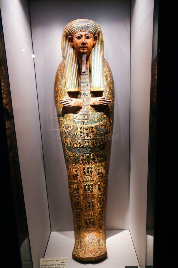 Bara della regina al museo di imbalsamazione a Luxor, Egitto fotografia stock