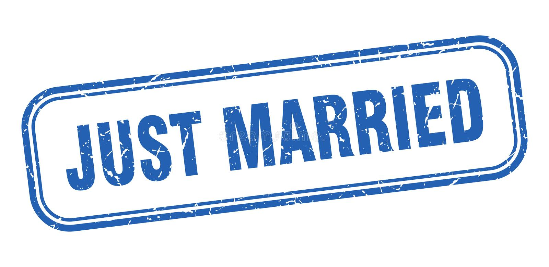 bara gift st?mpel royaltyfri illustrationer