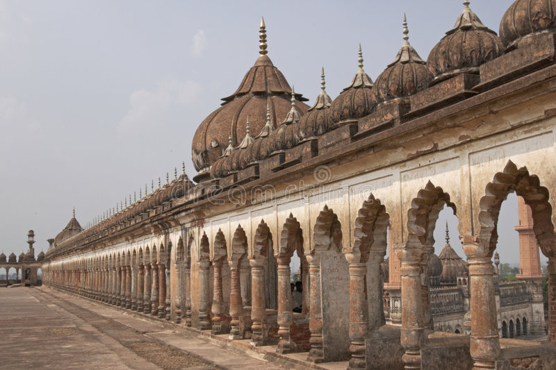 Bara Imambara, Lucknow, India. Classical islamic architecture on the roof of the 18th Century Bara Imambara in Lucknow, Uttar Pradesh, India stock images