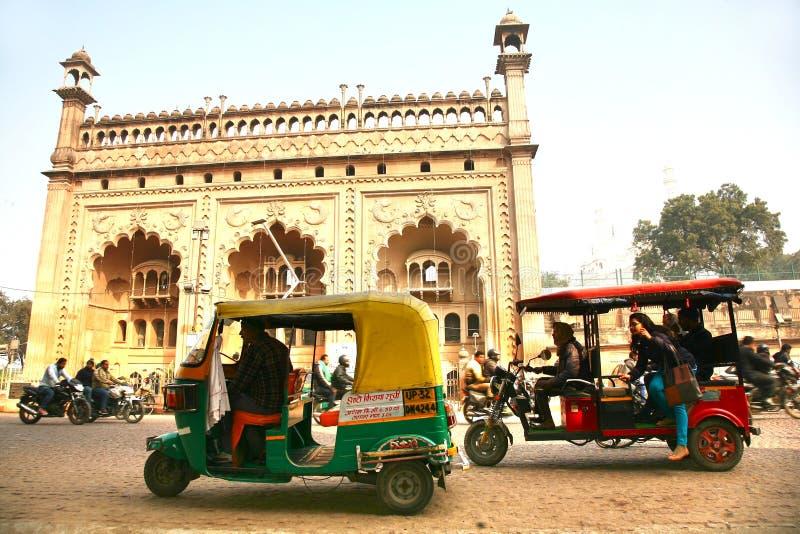 Bara Imambara is een imambara complex in Lucknow, India royalty-vrije stock afbeelding