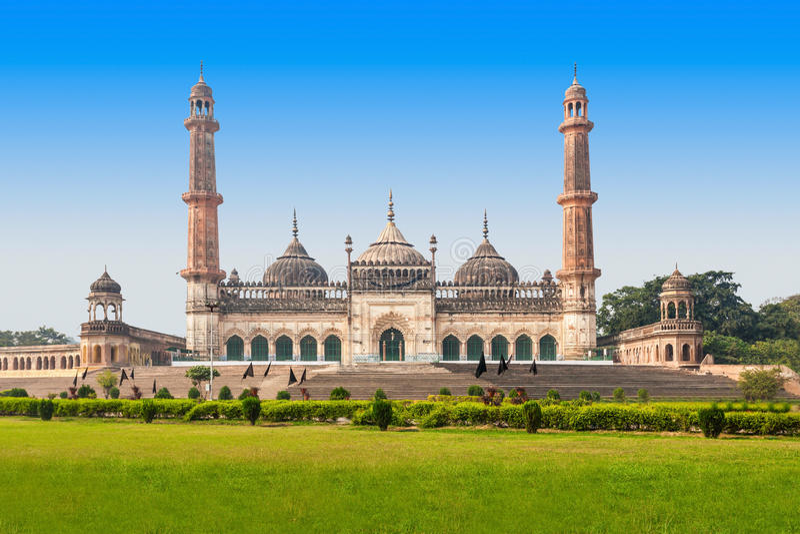 Bara Imambara Lucknow royaltyfri foto