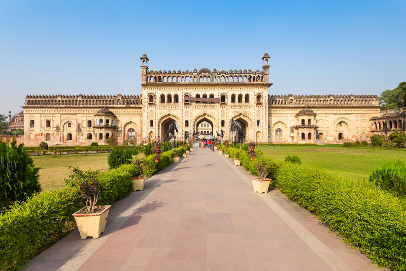 Bara Imambara, Lucknow immagini stock libere da diritti