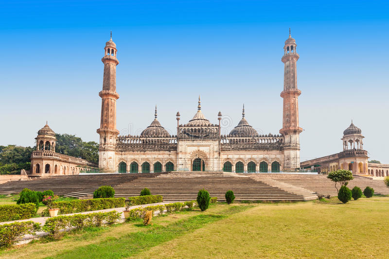 Bara Imambara, Lucknow. The Asfi Mosque, located near the Bara Imambara in Lucknow, India royalty free stock photos