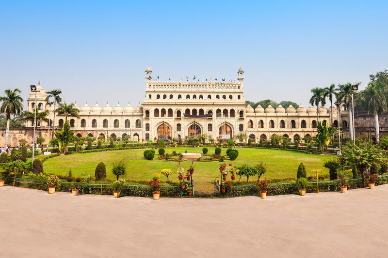 Bara Imambara, Lucknow. Bara Imambara is an imambara complex in Lucknow, India. Built by Asaf-ud-Daula, Nawab of Awadh, in 1784 royalty free stock photos
