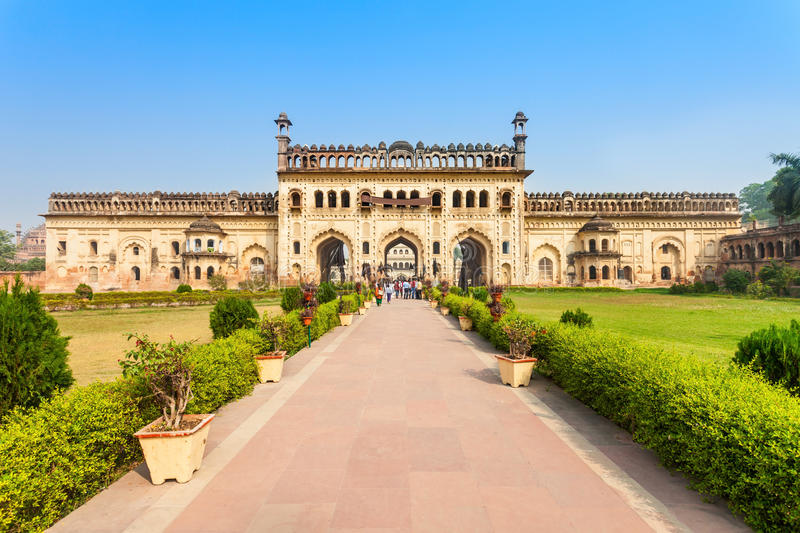 Bara Imambara, Lucknow. Bara Imambara is an imambara complex in Lucknow, India. Built by Asaf-ud-Daula, Nawab of Awadh, in 1784 stock images