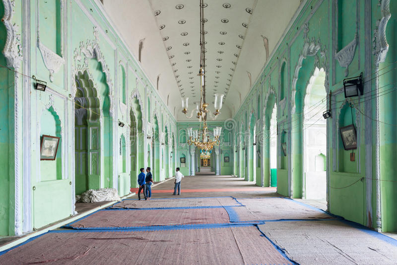 Bara Imambara, Lucknow. LUCKNOW, INDIA - NOVEMBER 14, 2015: Bara Imambara interior. Itis an imambara complex in Lucknow, India stock photos