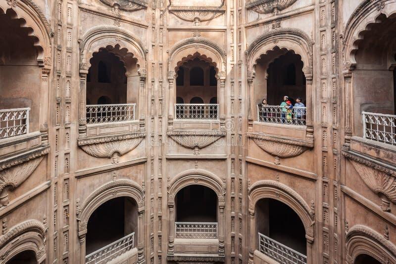 Bara Imambara, Lucknow. LUCKNOW, INDIA - NOVEMBER 15, 2015: Shahi Hamam Bouli royal bath at Bara Imambara complex in Lucknow, Uttar Pradesh in India stock photos