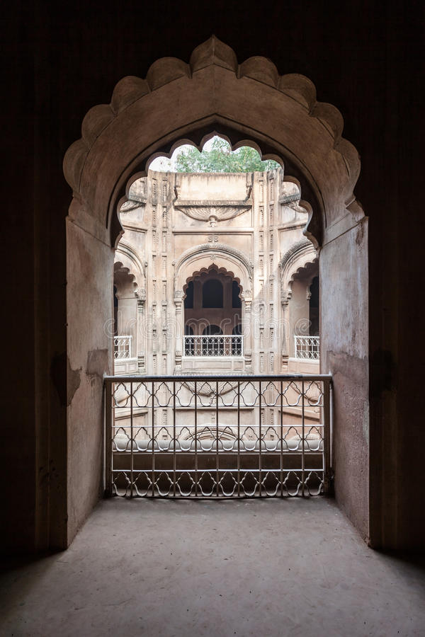 Bara Imambara, Lucknow. LUCKNOW, INDIA - NOVEMBER 15, 2015: Shahi Hamam Bouli royal bath at Bara Imambara complex in Lucknow, Uttar Pradesh in India stock image