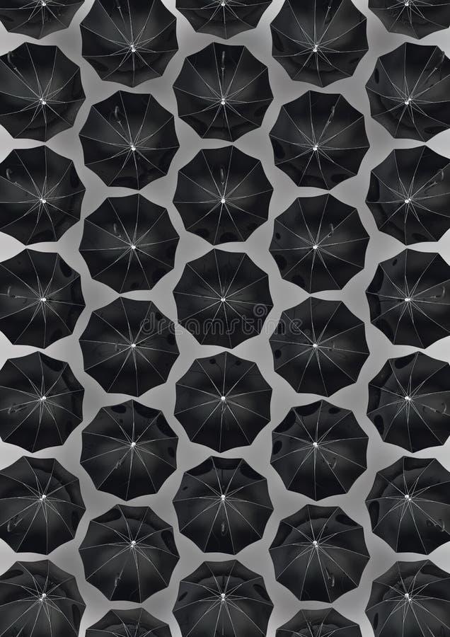 bara paraplyer royaltyfri illustrationer
