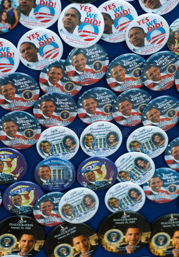 barack καρφίτσες obama κουμπιών στοκ φωτογραφία με δικαίωμα ελεύθερης χρήσης