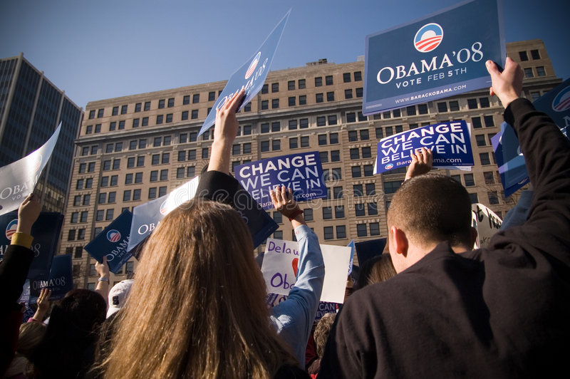 barack υποστηρικτές obama εκστρατείας στοκ εικόνες με δικαίωμα ελεύθερης χρήσης