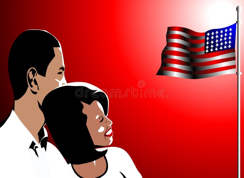 Barack et illustration d'obama de Michelle illustration libre de droits