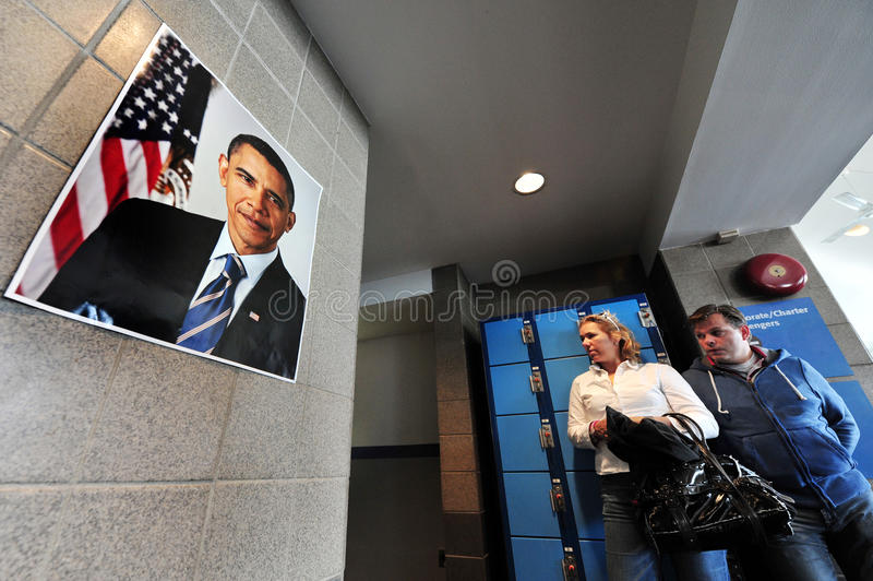Barack Hussein Obama de 44ste President van de Verenigde Staten royalty-vrije stock afbeeldingen