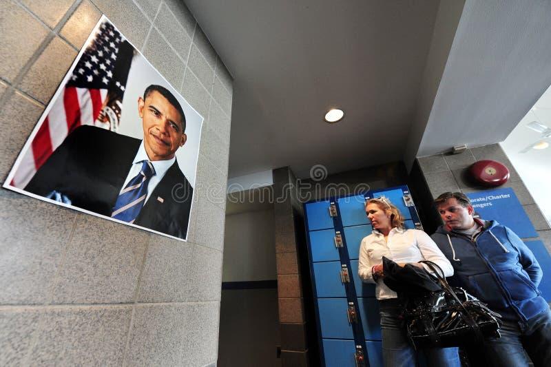 Barack Hussein Obama den 44th presidenten av Förenta staterna royaltyfria bilder