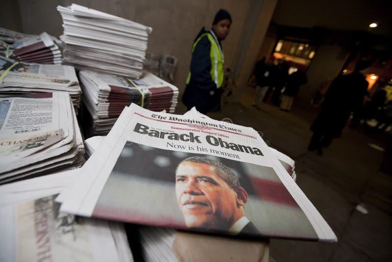 barack obama εγκαινίασης προεδρι&ka στοκ εικόνα