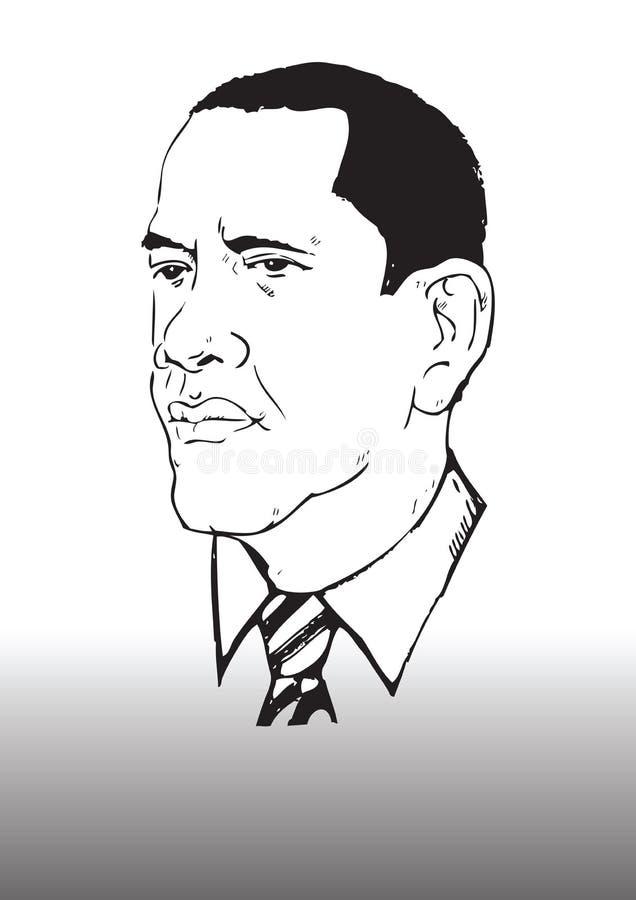 barack obama σχεδίων απεικόνιση αποθεμάτων