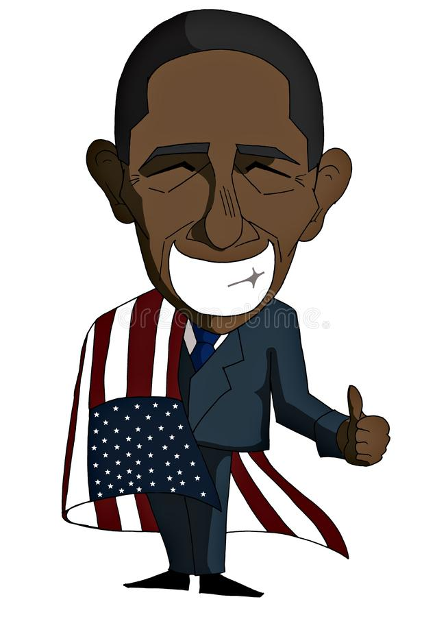 Smiling Barack Obama In A Cartoon Version Editorial Photo