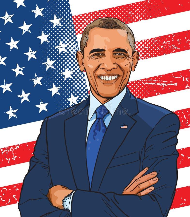 Barack Obama stock illustrationer