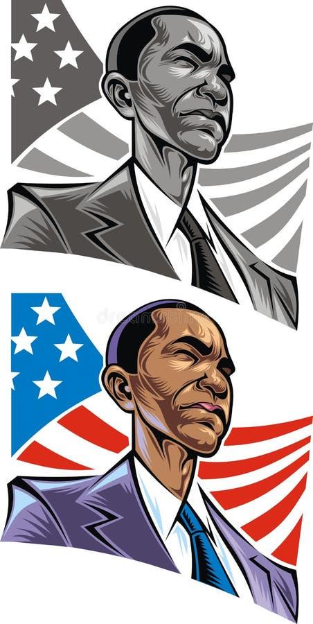 Barack Obama illustration stock