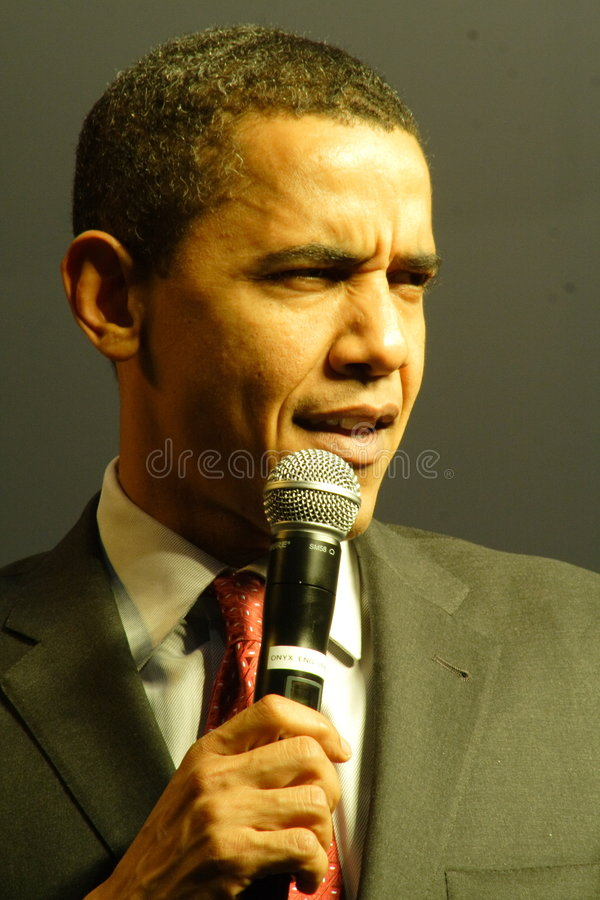 Barack Obama. Speaking at a campaign rally royalty free stock photography