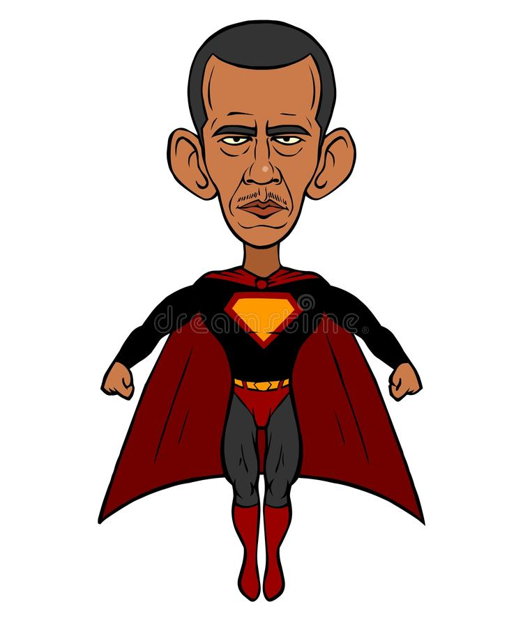 Barack Obama royalty illustrazione gratis