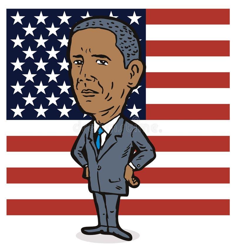 barack obama royalty ilustracja