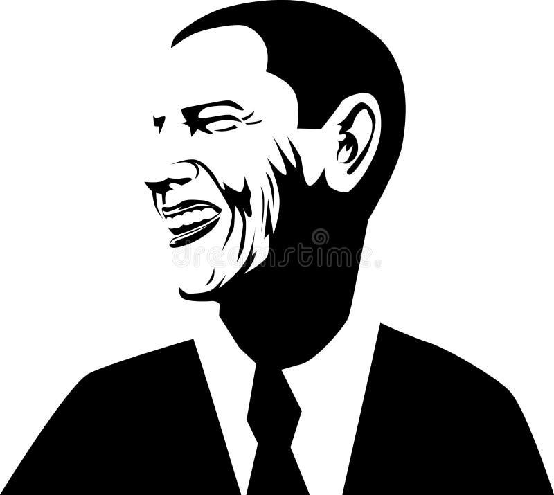 Barack Obama ilustração royalty free