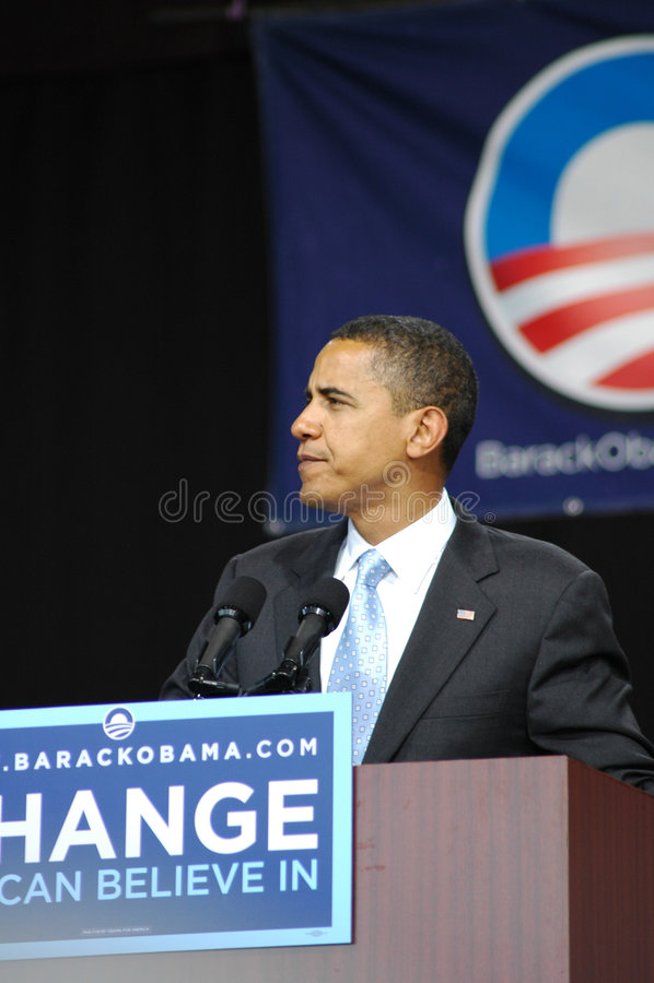 Barack Obama royalty-vrije stock afbeeldingen