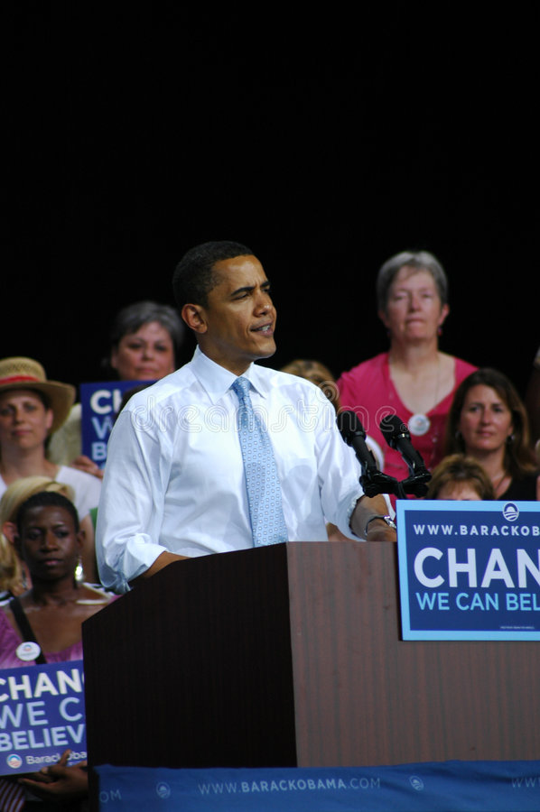 Barack Obama foto de stock