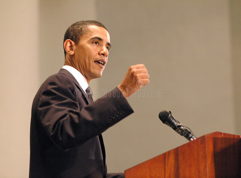 Download Barack Obama editorial photo. Image of fist, speech, forceful - 7590431