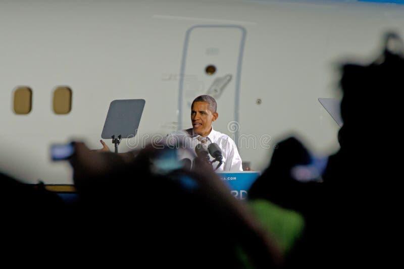 Barack Obama Cleveland Ohio images stock