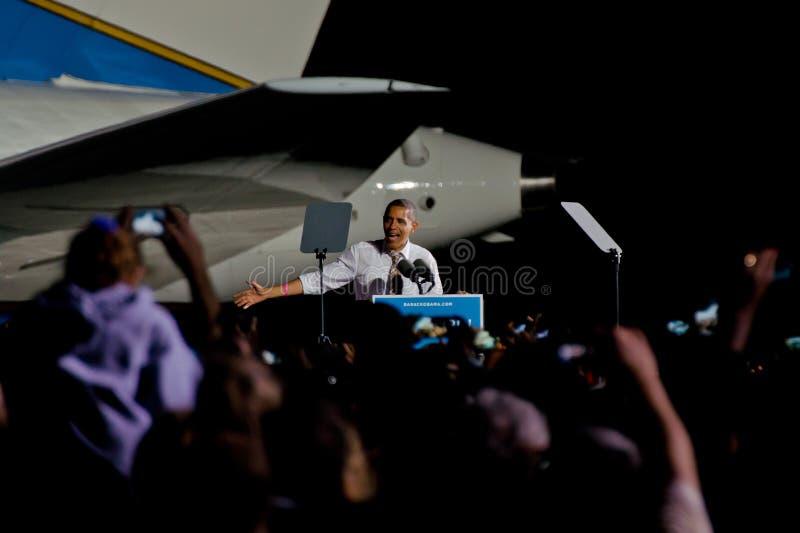 Barack Obama Cleveland Ohio Airforce un photo libre de droits