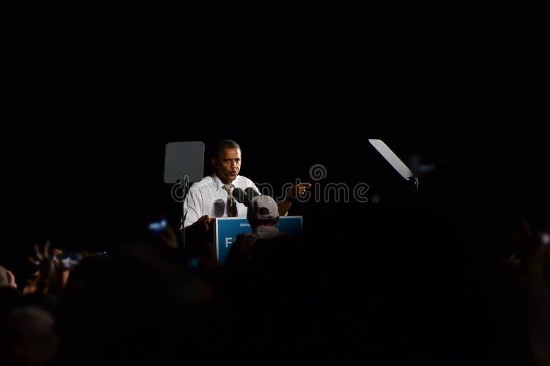 Barack Obama Cleveland Ohio Airforce un photo stock