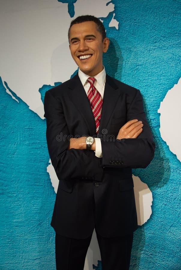 Barack Obama en el museo de señora Tussauds foto de archivo libre de regalías