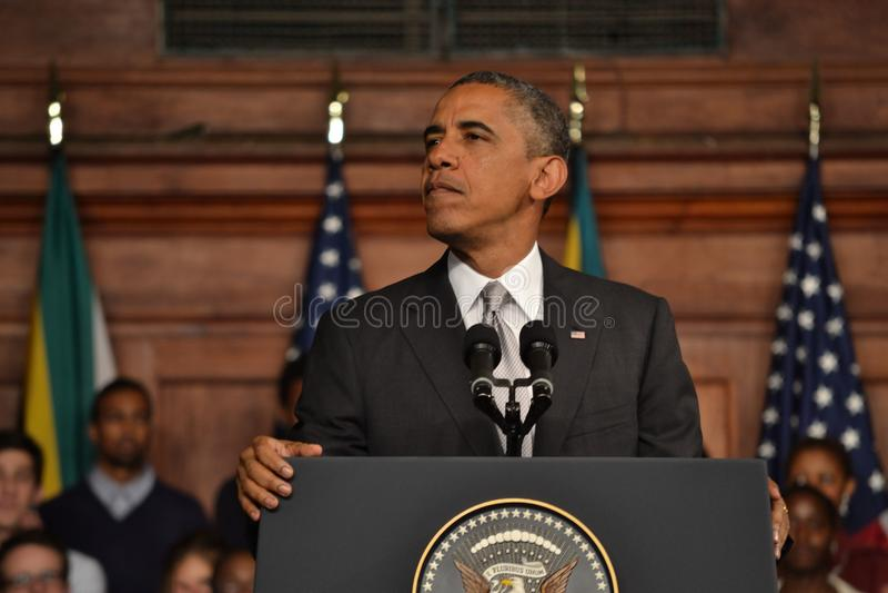 Barack Obama en UCT fotos de archivo libres de regalías