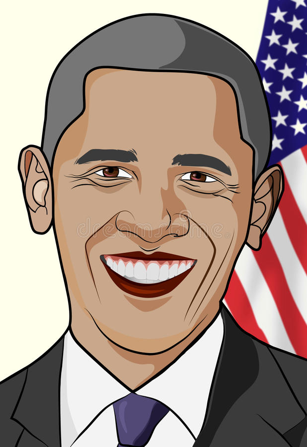 Barack Obama ilustracja royalty ilustracja