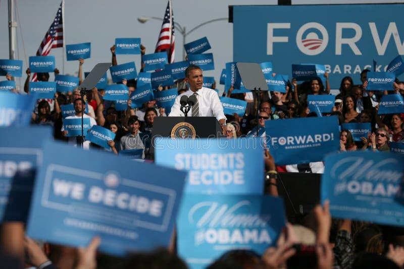 Barack Obama In Las Vegas Redaktionelles Foto