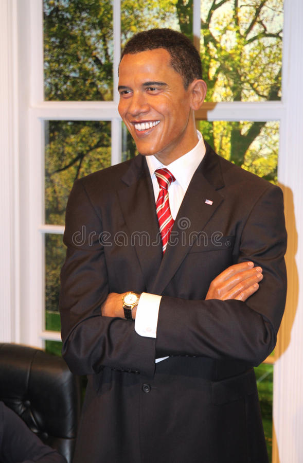 Barack Obama at Madame Tussaud's stock images
