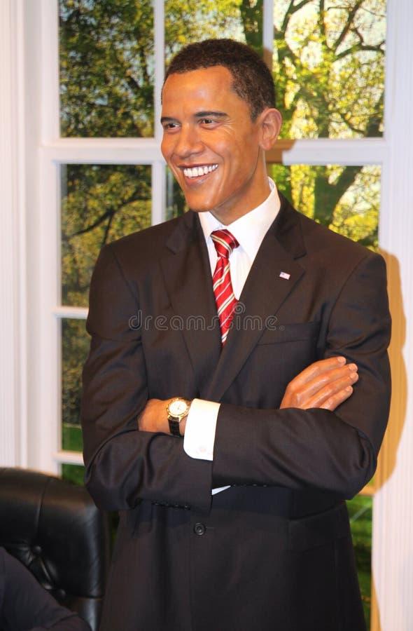 Barack Obama na senhora Tussaud imagens de stock