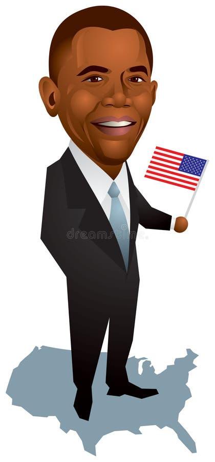 Barack Obama, presidente dos E.U. ilustração royalty free