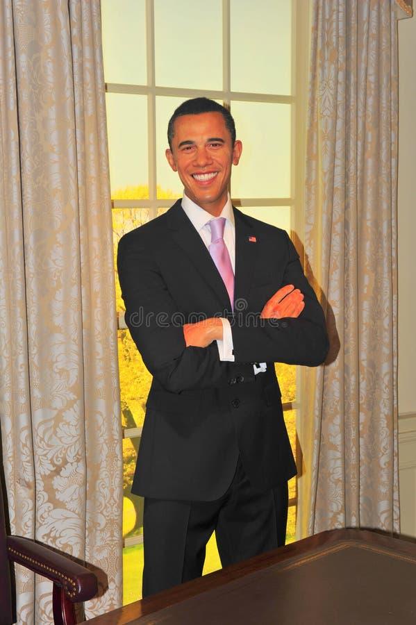 Barack Obama, presidente dos EUA, na senhora Tussaud foto de stock